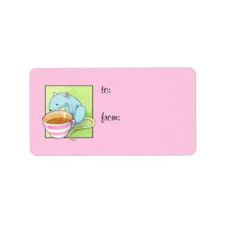 Small Pleasures pink Gift Tag Address Label