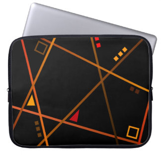 "Small pocket computer - Model ""Abstract geometry "" Laptop Sleeve"