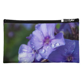 small pocket, flower purple makeup bag