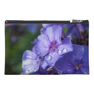 small pocket, flower purple travel accessory bag