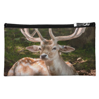 small pocket photo stag under wood makeup bag