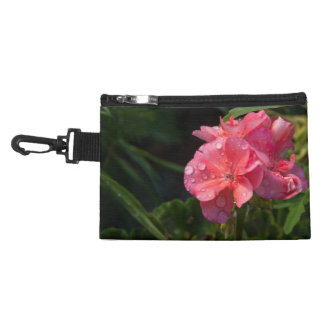 small pocket, pink flower accessory bag