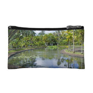 small pocket tropical garden cosmetic bags
