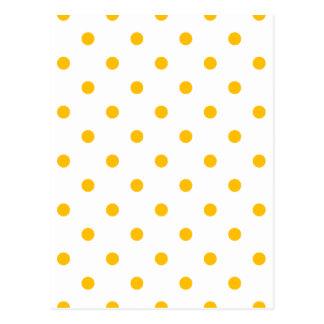 Small Polka Dots - Amber on White Postcard