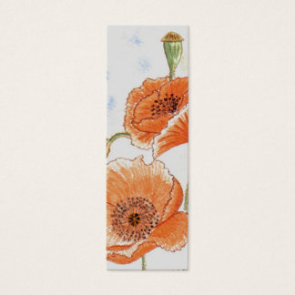 'Small Poppies' Small Bookmark Mini Business Card