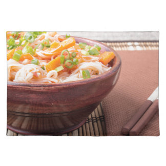 Small portion of rice vermicelli hu-teu placemats