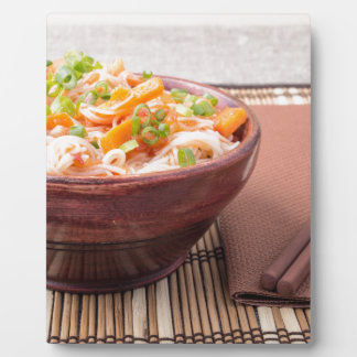 Small portion of rice vermicelli hu-teu plaque