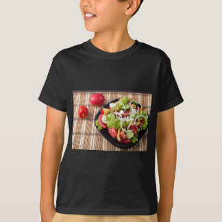 Small portion of vegetable salad of tomato T-Shirt