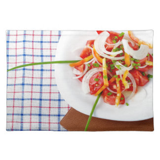 small portion of vegetarian salad placemats