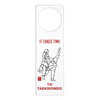 Small poster of door IT TAKES TWO TO TAEKWONDO Door Hanger