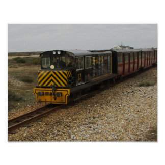 Small Poster with Diesel Train at Dungenes