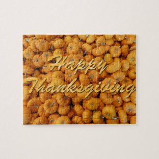Small Pumpkins Happy Thanksgiving Jigsaw Puzzle