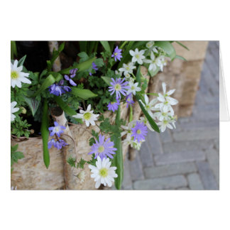 Small Purple and White Flowers Card