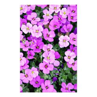 Small Purple Flowers Stationery