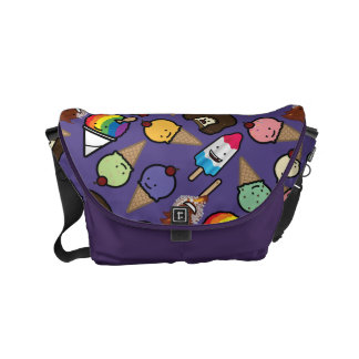 Small Purple Frosty Treat Messenger Bag