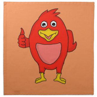 Small red bird design custom cloth napkins