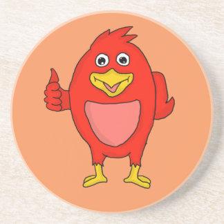 Small red bird design custom coasters