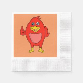Small red bird design custom napkins disposable napkins