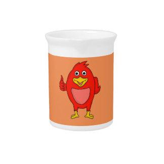 Small red bird design custom pitchers
