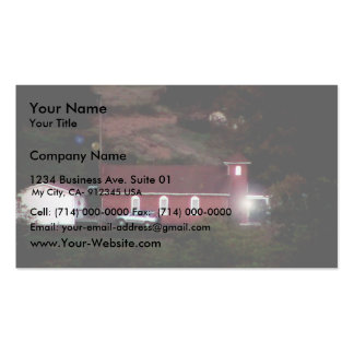 Small Red Country Church Business Card