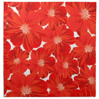 Small red flowers napkin