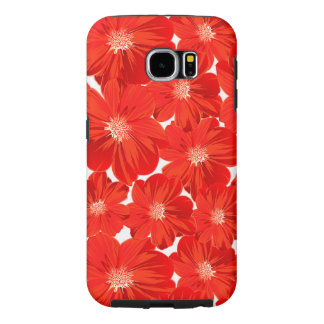 Small red flowers samsung galaxy s6 cases