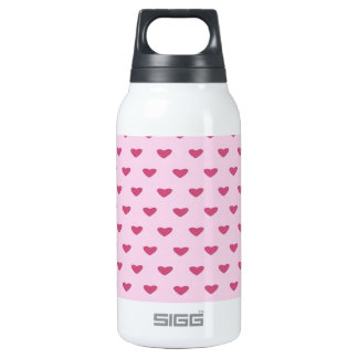 Small Red Hearts 0.3 Litre Insulated SIGG Thermos Water Bottle