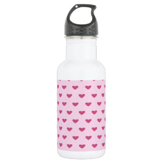 Small Red Hearts 532 Ml Water Bottle