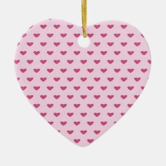 Small Red Hearts Ceramic Heart Decoration
