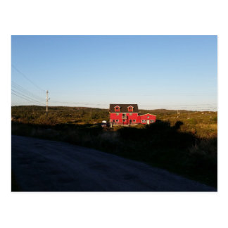 Small red house postcard