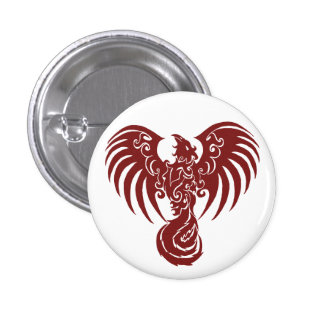 Small Red Phoenix Logo button