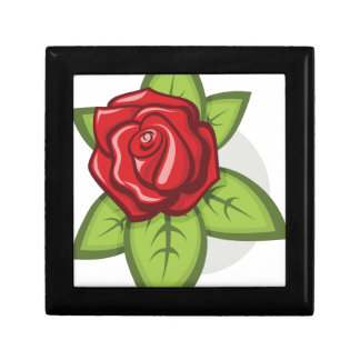 Small Red Rose Gift Box