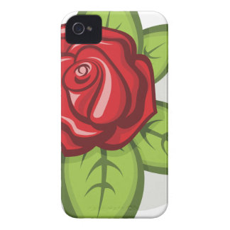 Small Red Rose iPhone 4 Case