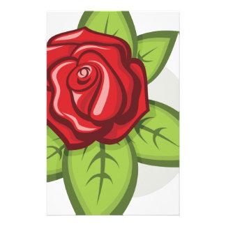 Small Red Rose Stationery