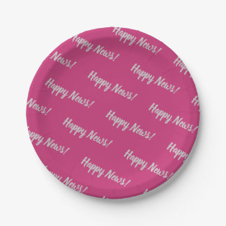 Small repeated word paper plate