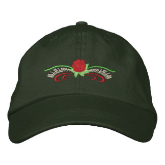 Small Rose with keyboard Embroidered Hats