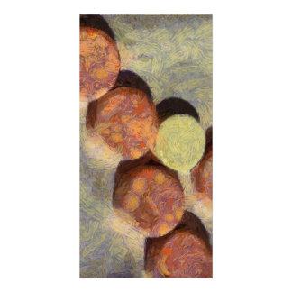Small round stones photo card