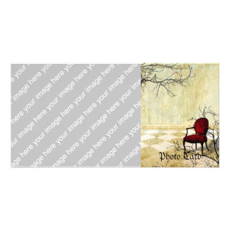 Small Royal Chair with Branches Custom Photo Card