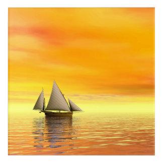 Small sailboat - 3D render Acrylic Wall Art