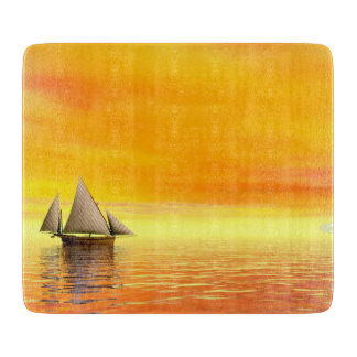 Small sailboat - 3D render Cutting Board
