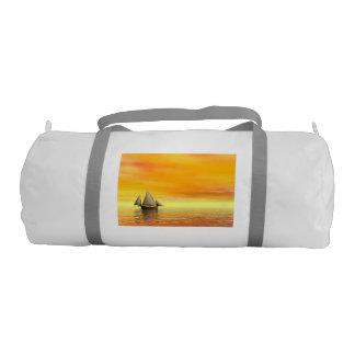Small sailboat - 3D render Gym Bag