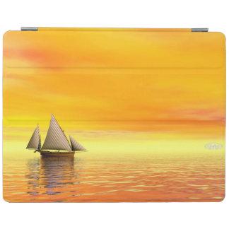 Small sailboat - 3D render iPad Cover
