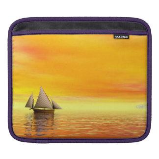 Small sailboat - 3D render iPad Sleeve