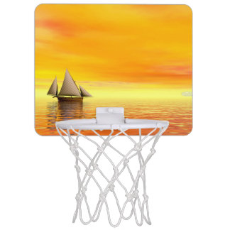 Small sailboat - 3D render Mini Basketball Hoop