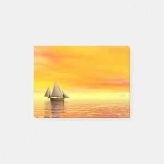 Small sailboat - 3D render Post-it Notes
