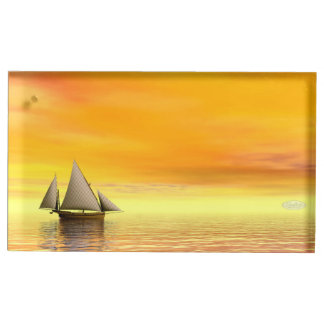 Small sailboat - 3D render Table Card Holder