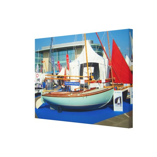 Small sailing boats, Southampton boat show Gallery Wrap Canvas