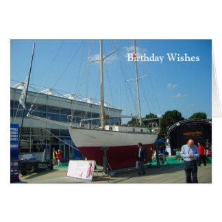 Small sailing boats, Southampton boat show Greeting Card