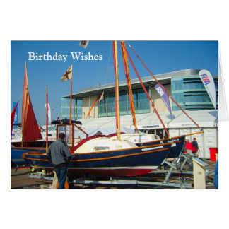 Small sailing boats, Southampton boat show Greeting Card