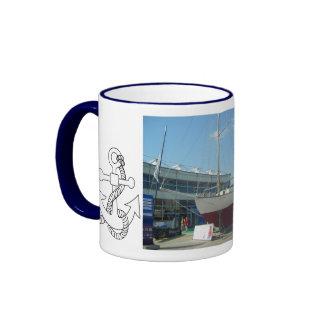 Small sailing boats, Southampton boat show Ringer Mug